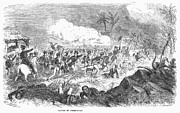 U.s. Army Prints - Mexican War: Churubusco Print by Granger