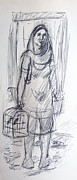 Maid Drawings - Mexican Woman by Bill Joseph  Markowski