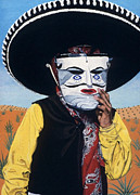 Hyper Painting Posters - Mexicano Poster by Michael Earney