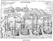 1620 Prints - Mexico: Acapulco, 1620 Print by Granger