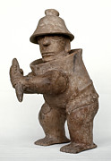 Primitive Sculpture Prints - Mexico: Ball Player Print by Granger