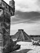 Archaeology Sculpture Posters - Mexico: Chichen Itza, Poster by Granger