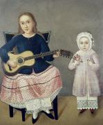 Blonde Framed Prints - MEXICO: CHILDREN, c1850 Framed Print by Granger