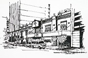 Restaurant Drawings Prints - Mexico City  Cicero Restaurant Print by Robert Birkenes
