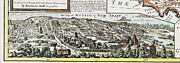 America City Map Prints - Mexico City Map, 1715 Print by Granger