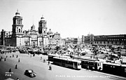 Mass Transit Framed Prints - MEXICO CITY: ZOCALO, c1930 Framed Print by Granger
