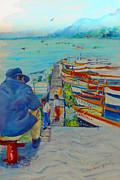 Mexico Lake Chapala Print by Estela Robles