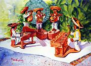 Mexico Mariachis Print by Estela Robles