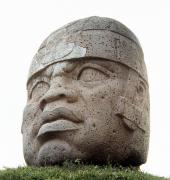 11th Posters - Mexico: Olmec Head Poster by Granger