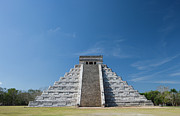 Indigenous Culture Prints - Mexico, Yucatan Peninsula, Yucatan, Chichen Itza, Kukulkan Pyramid Print by Adam Crowley