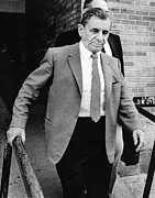 Lansky Posters - Meyer Lansky Leaves Federal Court July Poster by Everett