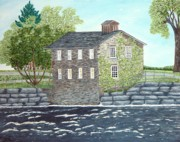 Old Mills Paintings - Meyers Mill by Peggy Holcroft