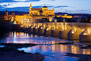 Great Mosque Posters - Mezquita and Roman Bridge in Cordoba Poster by Artur Bogacki