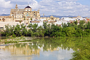 Great Mosque Framed Prints - Mezquita Cathedral by the River in Cordoba Framed Print by Artur Bogacki