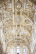Reliefs Framed Prints - Mezquita Cathedral Ceiling Framed Print by Artur Bogacki