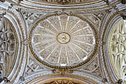 Sculptured Posters - Mezquita Cathedral Dome Ceiling Poster by Artur Bogacki