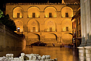 Great Mosque Prints - Mezquita Facade at Night Print by Artur Bogacki