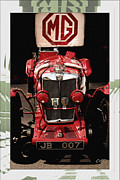 Kirkland Prints - MG NE Frontal with Flag- METAL PRINT RECOMMENDED Print by Curt Johnson