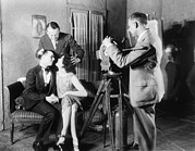 On-set Framed Prints - Mgm Director Edmund Goulding Back Left Framed Print by Everett