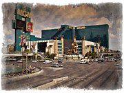 Tree Art Print Framed Prints - MGM Grand - IMPRESSIONS Framed Print by Ricky Barnard