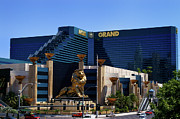 The Strip Framed Prints - MGM GRAND Hotel Casino Framed Print by Mariola Bitner