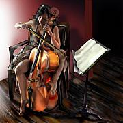 Cello Art - Mi Chica - Solace in the Unseen by Reggie Duffie