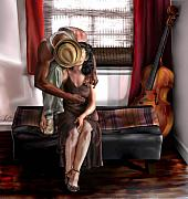 Cello Prints - Mi Chica-Amo A Mi Esposita  Print by Reggie Duffie