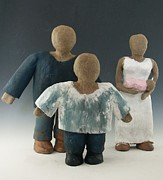 Child Ceramics - Mi Familia by Jose Orduno