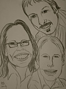 Family Drawings - Mi Familia by Pete Maier