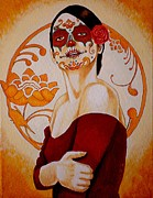Painted Paintings - Mi Linda Muerte by Al  Molina
