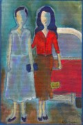 Little Girls98 Paintings - Mi Mama Su Mama by Ricky Sencion