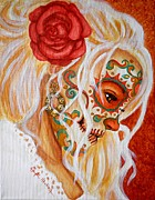 Face Paintings - Mi Mente me lleva de nuevo a Usted  by Al  Molina