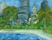 Miami Heat Painting Prints - Mi Miami Print by Jorge Delara