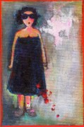 Little Girls98 Paintings - Mi Negra by Ricky Sencion