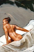 Nude Painting Framed Prints - Mia X Framed Print by Matthew Schenk