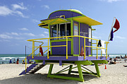 Miami Beach Print by Bob Christopher