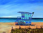 Maria Soto Robbins Art - Miami Beach Lifeguard at 41 Street by Maria Soto Robbins