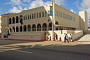 Gathering Photos - Miami Beach synagogue saturday morning by Zalman Lazkowicz