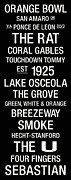 Touchdown Posters - Miami College Town Wall Art Poster by Replay Photos