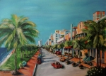 Streetscape Painting Acrylic Prints - Miami for Daisy Acrylic Print by Dyanne Parker