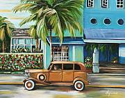 Streetscape Paintings - Miami Nice by Dyanne Parker