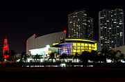 American Airlines Arena Framed Prints - Miami Nights 4 Framed Print by Brian Leon