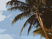 Palm Tree Greeting Cards - Miami Palm Tree II by Patricia Awapara