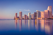 Miami River Photos - Miami Skyline by Giorgio Fochesato