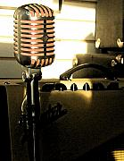 Microphone Metal Prints - Mic Metal Print by Gary Everson