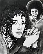 Jackson Drawings Prints - Micael Jackson I Print by Toni  Thorne