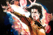 Thriller Painting Originals - Michael by Bobby Barredo