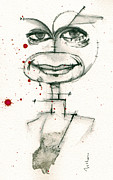 Pen And Ink Portraits Posters - Michael C. Hall as Dexter Morgan Poster by Mark M  Mellon