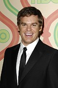 Golden Globe Framed Prints - Michael C. Hall At Arrivals For Hbo Framed Print by Everett