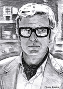 Michael Drawings Posters - Michael Caine Poster by Chris Fader
